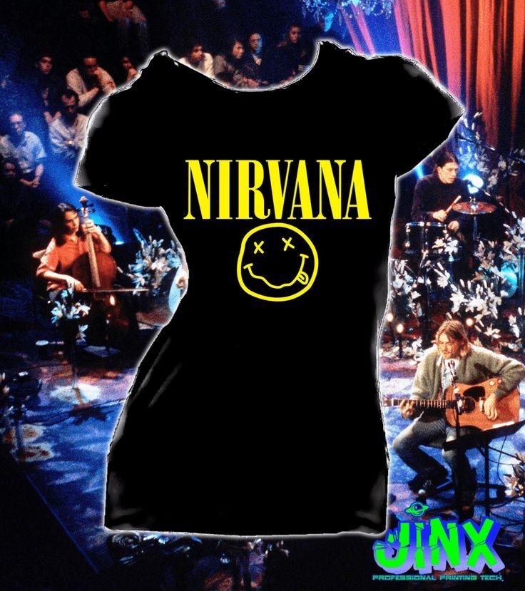 Playera o Camiseta Nirvana Logo -Jinx