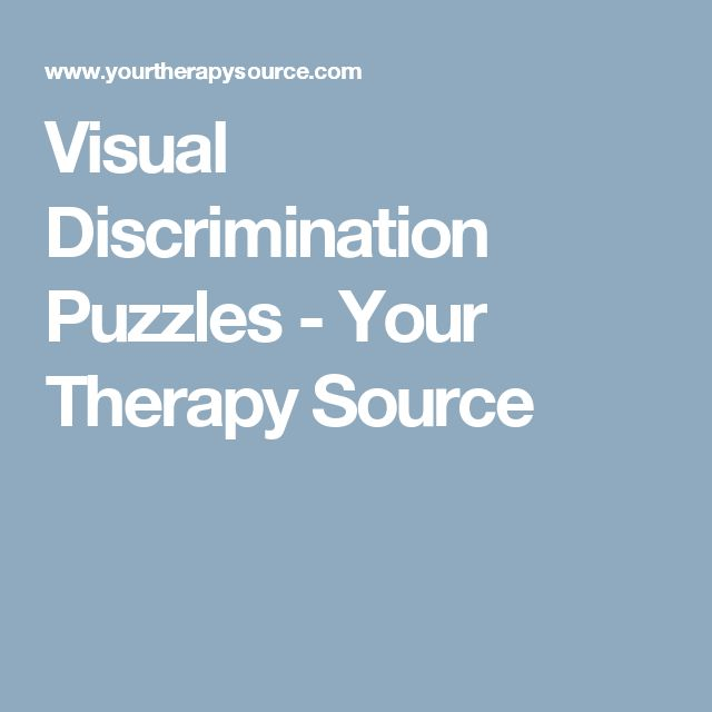 Visual Discrimination Puzzles - Your Therapy Source