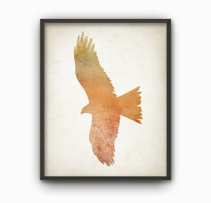 falcon wall art print wood hunting lodge decor home decor art