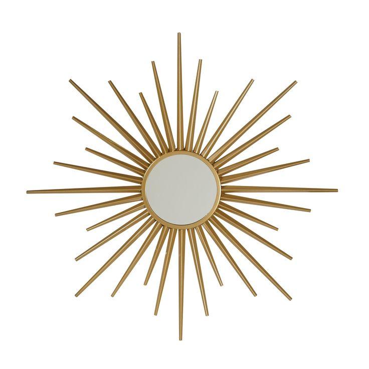 Miroir en forme de soleil couleur or Or - Soly - Les miroirs - Vases et objets de déco - Salon et salle à manger - Décoration d'intérieur - Alinéa #AlineaPE2014