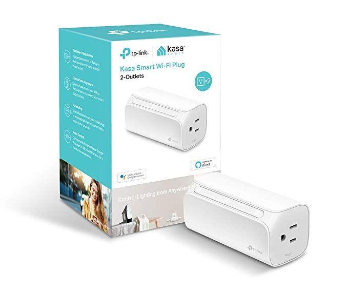 double outlet - Kasa Smart WiFi Plug Mini by TP-Link - Smart