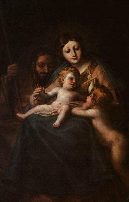 La Sainte Famille et St Jean-Baptiste, par Francisco de Goya (1780)