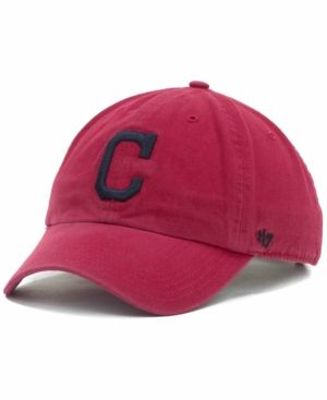 '47 Brand Cleveland Indians Clean Up Hat - Red