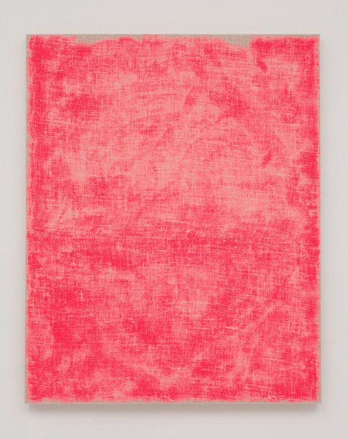 Evan Nesbit | Porosity (Flo/PINK) (2014) acrylic on burlap