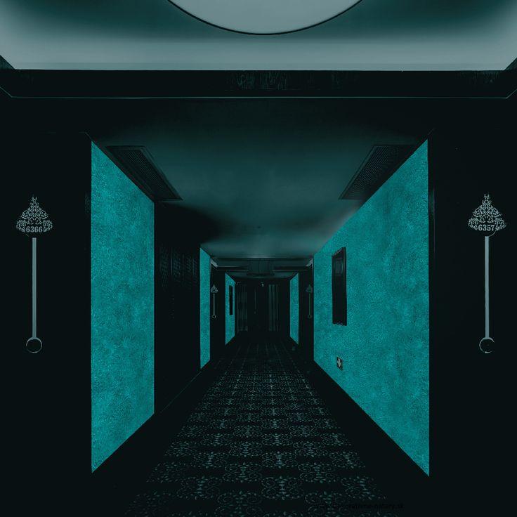 Hotelová chodba -  MAGIC LIGHT - fosforujúci náter