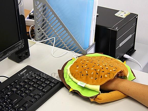 Hamburger USB Hand Warmer Mouse Pad www.facebook.com/webholic