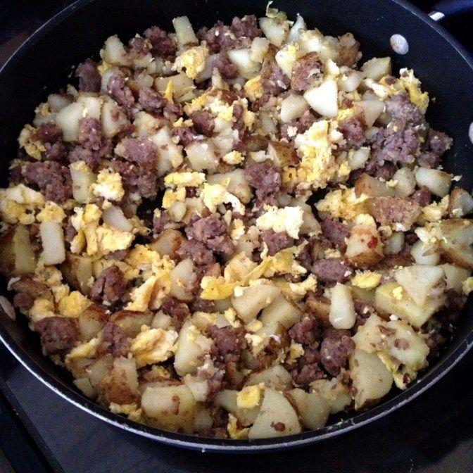 Easy breakfast burrito ingredients cooking