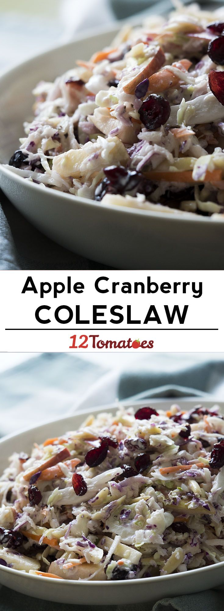 Apple Cranberry Almond Coleslaw | Recipe | Cole slaw, Coleslaw and ...
