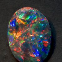 Black Opal is a greenish type of opal with black mottling and gold flecks. Usually found in...