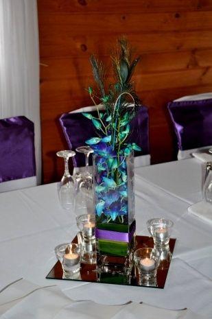 Peacock Wedding Centerpieces Ideas