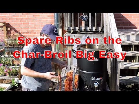 Can you do ribs in the Big Easy?  You sure can!  They turn out great and in a much shorter time than smoking or doing them low and slow.   I used some St. Louis cut spare ribs in this cook and they only took a couple hours. Check out the video for all the details!