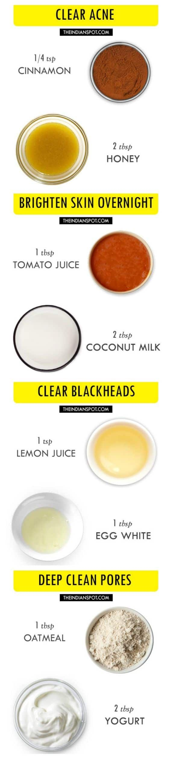 People with sensitive skin should try this DIY face mask for pores. It uses ground oatmeal as an exfoliator and yogurt to hydrate and nourish the skin.