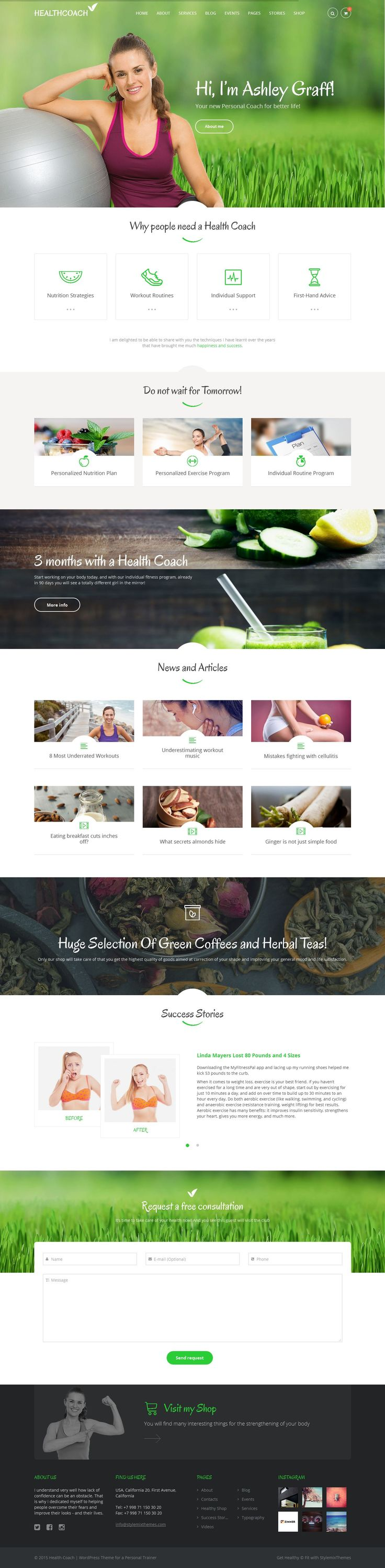 Wordpress Website Theme for Life and Health Coach