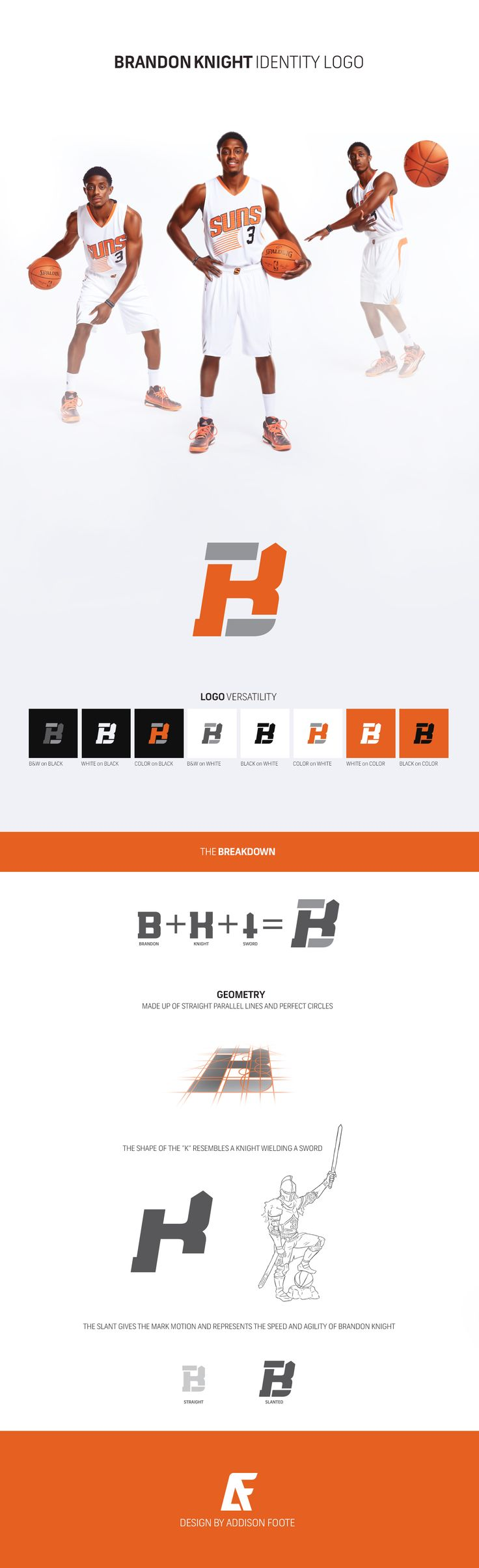 Brandon Knight Personal Identity Logo on Behance