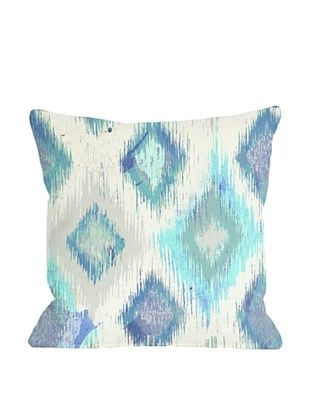 63% OFF Oliver Gal by One Bella Casa Del Mar Square Pillow, Ivory Blue