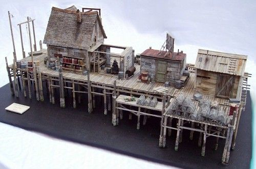 Lobster Wharf Diorama - Don Railton- Inspiration for under the Seaside heights house.