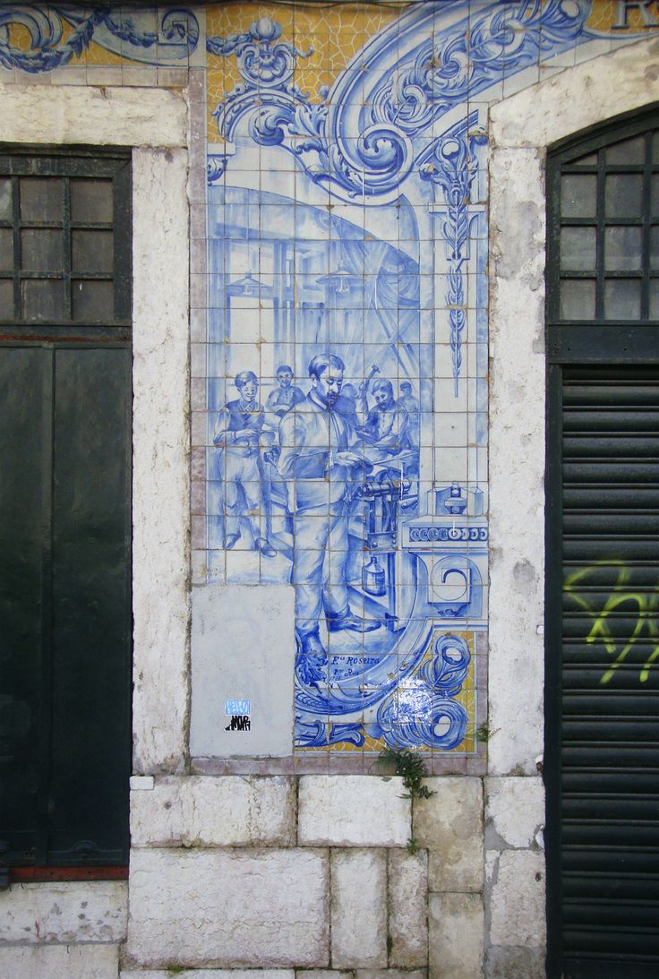 P[in]tor Reis | Fábrica / Factory Roseira | Lisboa | Rua / Street Cruzes da Sé, 15 | 1918 [© Patrícia Nóbrega] #Azulejo #AzulejoDoMês #AzulejoOfTheMonth #Trabalho #Labour #Lisboa #Lisbon
