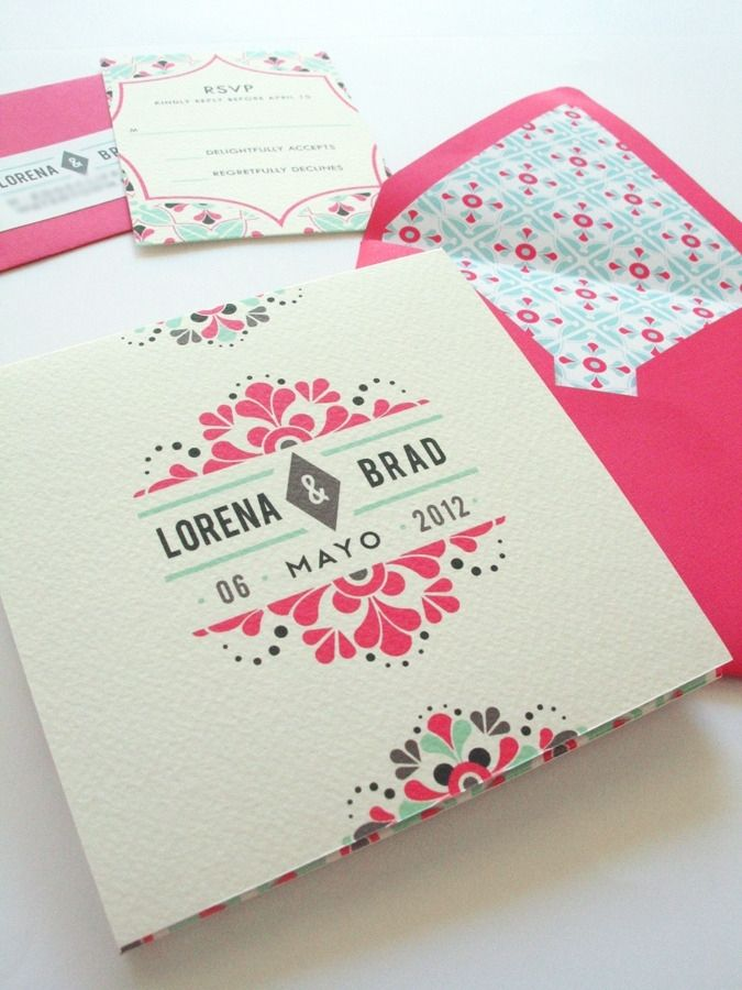 Wedding Invitation | Design ~ #GraphicDesign #PrintDesign #Inspiration