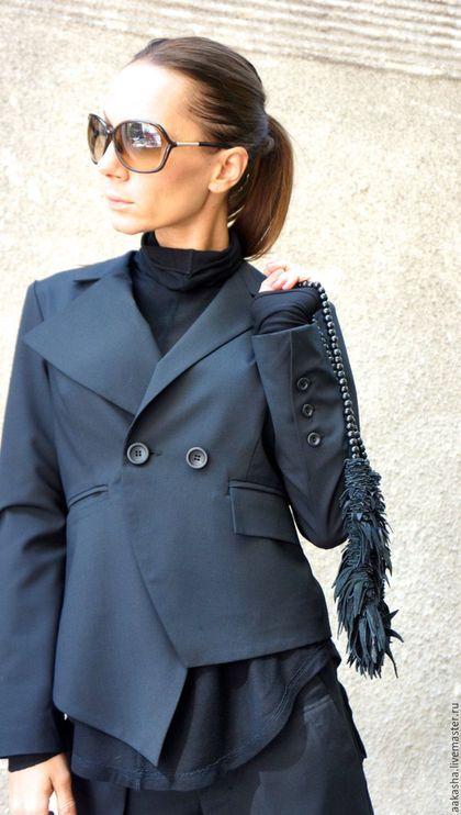 пиджак черный пиджак стильный пиджак дизайнерский пиджак черный стиль