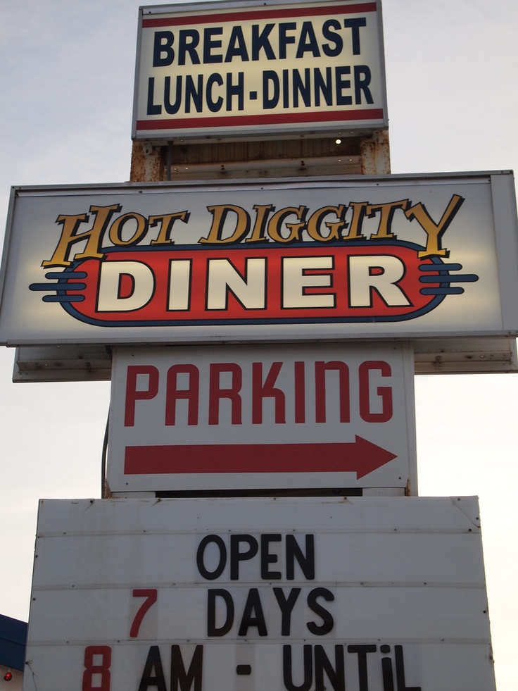 diners . . . open early for coffee . . . open late for coffee . . .