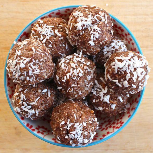 Raw Coconut and Cacao Bites | Deliciously Ella