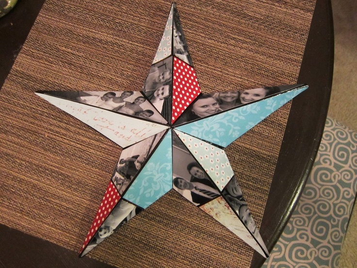 made a photo star from what I saw on Pinterest: Birthday, Photos Stars