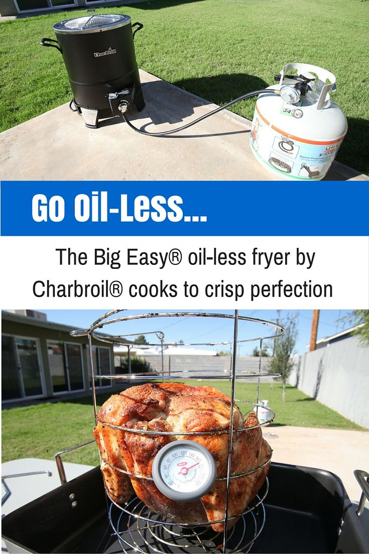 To completely eliminate the issues related to traditional deep fryers, check out the Charbroil Oil-less Turkey Fryer, a propane powered turkey–sized oven that will cook your bird in a fraction of the time of a traditional oven, with none of the hazards associated with a deep fryer. | Propane and Grilling