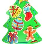 Lacing is an excellent activity for developing fine motor skills, improving hand-eye coordination and concentration, and keeping little kids happily amused RRP $17.50  http://squoodles.co.nz/products/wooden-lacing-christmas-tree-wooden-toys-for-kids/