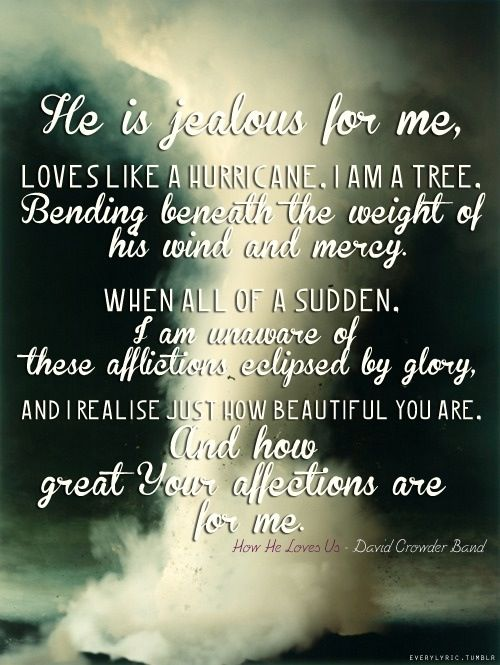 Amen!!! The power of Gods love is amazing!!! David Crowder Band