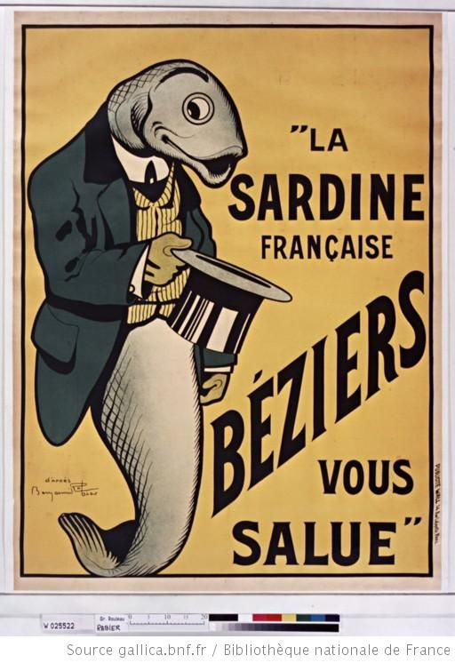 """""""La Sardine française, Béziers vous salue"""" : [affiche] / [Benjamin Rabier]"""