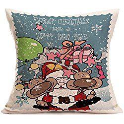 """Pillow Case,Vovotrade Christmas Sofa Bed Home Decor Pillow Case Cushion Cover 45cmx45cm/17.7""""x17.7"""" (E)"""