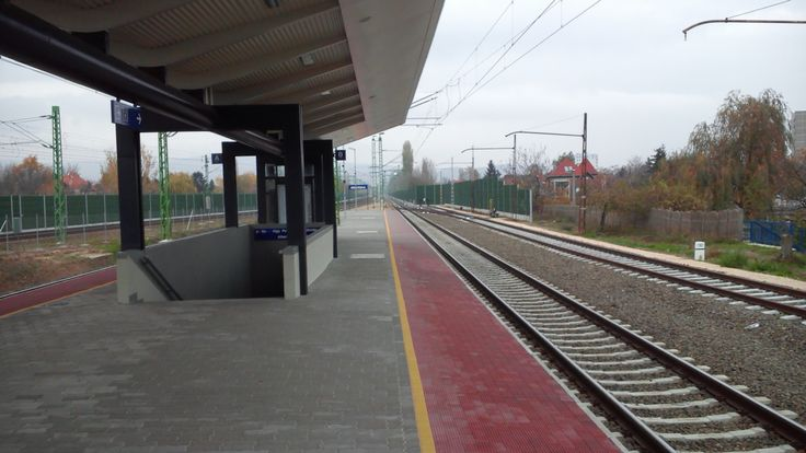 Renewed train stop at Albertfalva in #Budapest #Hungary