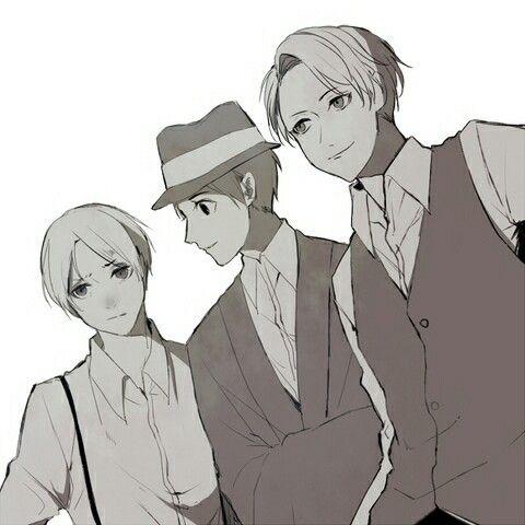 Hatano, Jitsui, and Miyoshi from Joker Game