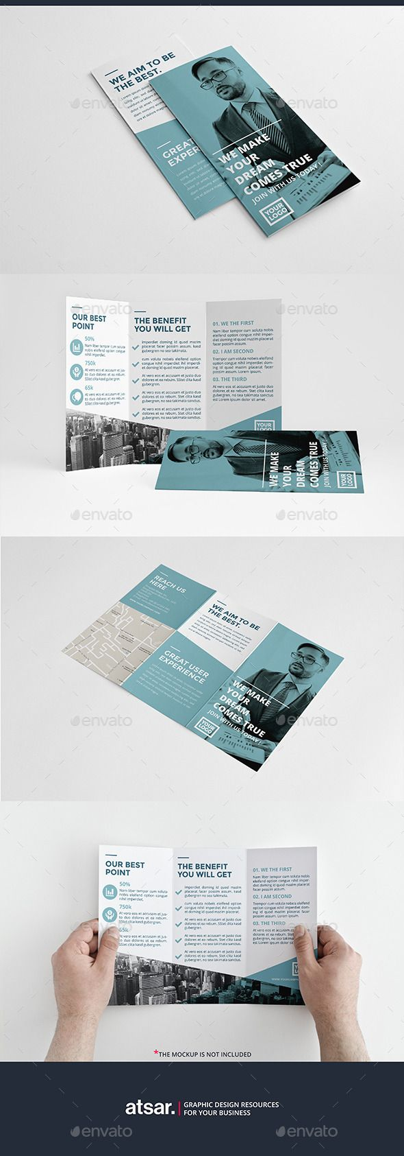 Clean Blue Trifold Template #design Download: http://graphicriver.net/item/clean-blue-trifold/12737547?ref=ksioks