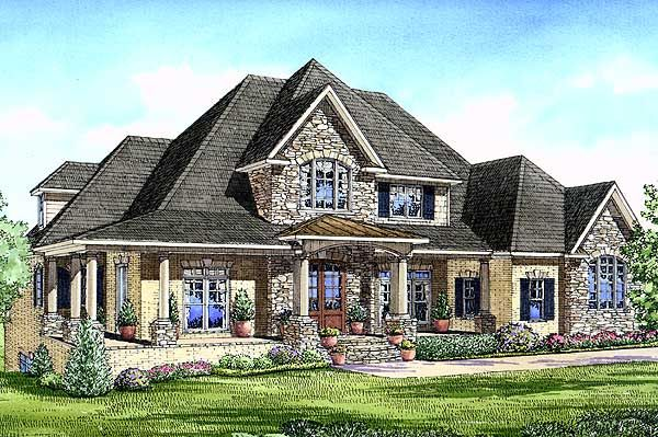 Luxurious european home plan European house plans