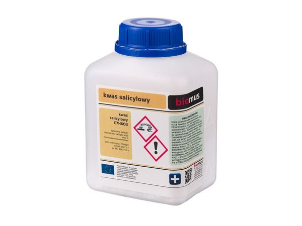 Biomus - KWAS SALICYLOWY czysty 500g