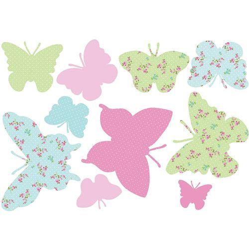 Fun4Walls Pastel Butterflies Wall Decals Bedding Decor Walmart DecorCath KidstonWall