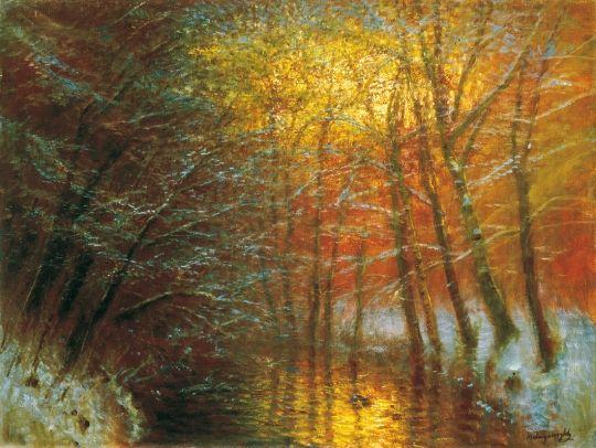 Mednyánszky László - Zúzmarás erdő, 1900-as évek