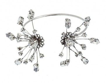 Handmade bridal antique metal plated bracelet with Swarovski strasses, by Art Wear Dimitriadis