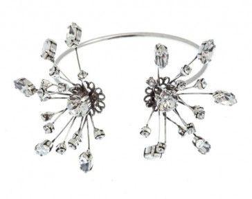 Handmade bridal antique metal plated bracelet with Swarovski strasses, by Art Wear Dimitriadis