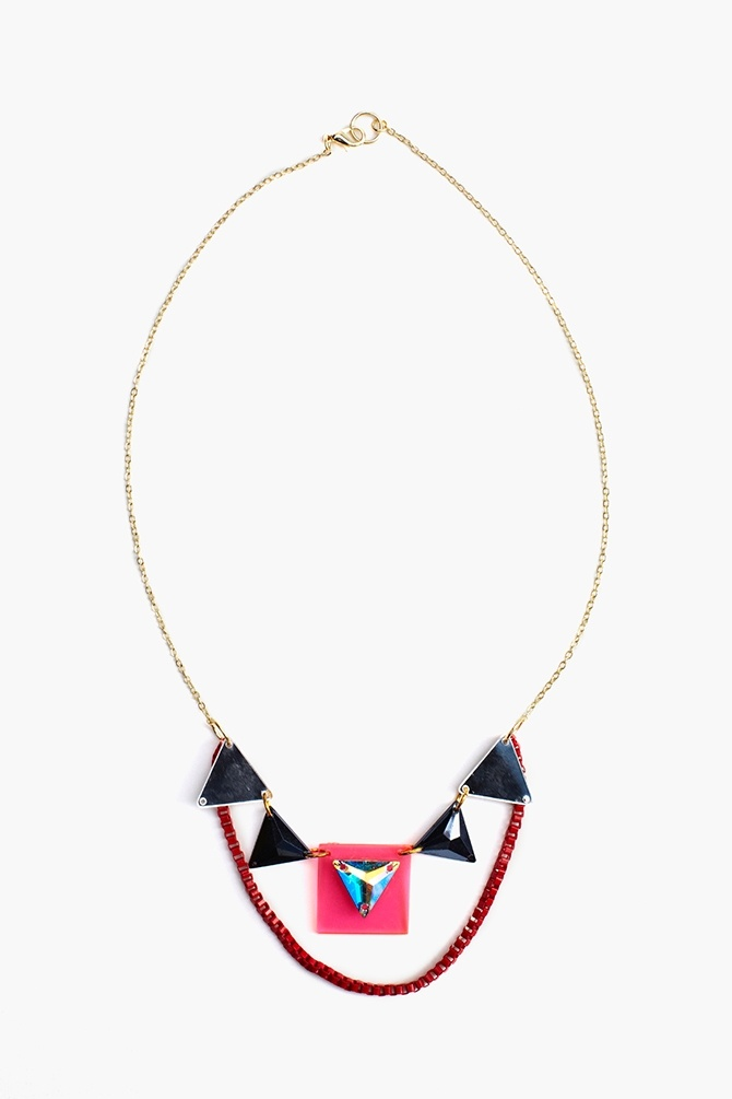 Mirrored Crystal Necklace