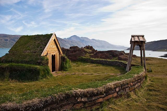 Viking chapel recreation at Narsarsuaq