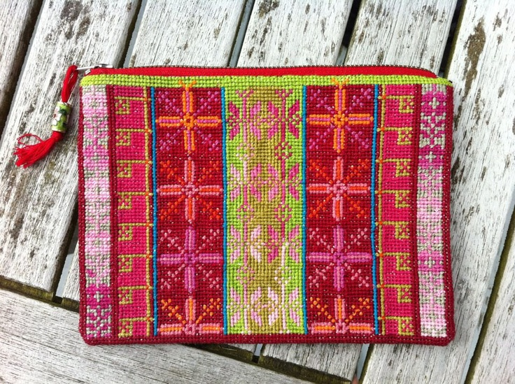 Red purse with tassle