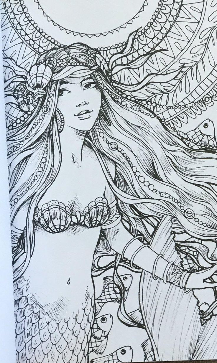 17 Best Images About Mermaid Coloring Pages On Pinterest