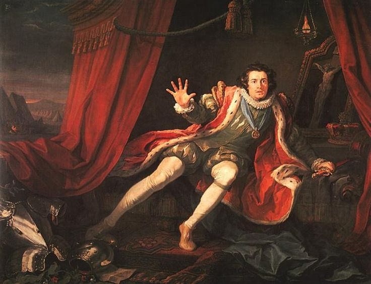 David Garrick como Ricardo III, 1745 - William Hogarth