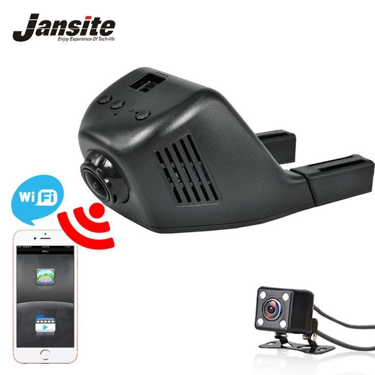 Jansite Registrator Mobil Dvr Kamera Mini Wifi Mobil Dash Cam Perekam Video Camcorder Full HD 1080 P Dual Lens Dvr Dukungan App