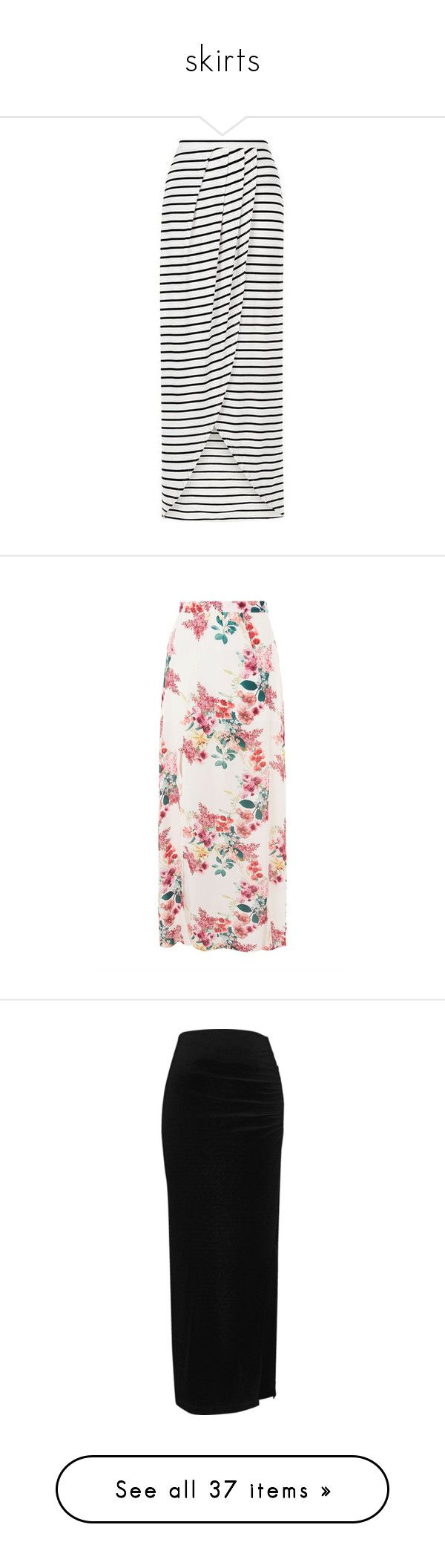 """""""skirts"""" by vegetariansoup on Polyvore featuring skirts, bottoms, faldas, maxi skirts, floor length skirt, stripe skirt, stripe maxi skirt, summer maxi skirts, striped maxi skirts and pink"""