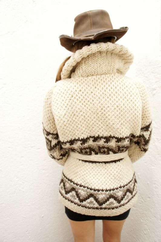 100% Virgin Wool: hand-knit in the highlands of central Mexico