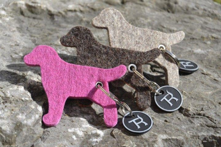 Schlüsselanhänger Filz Hund