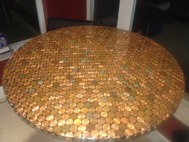 Penny Tabletop! Sealed With A 2 Part Epoxy   Projects Iu0027ve Actually Done!    Pinterest   Epoxy, Tabletop And DIY Furniture